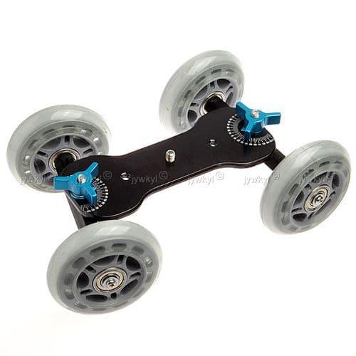 Planche Roller Skate Board pour DSLR Appareil Photo Caméscope Dolly Système Coulissant Patineur