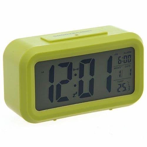 Réveil Alarme Grand Écran Digital LCD Date Heure Température Calendrier GR