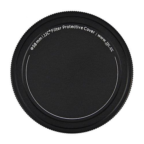 Range Filtre Capuchon Aluminium à Visser Filtre Objectif 58mm Stockage Protection