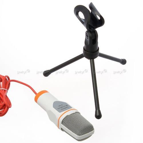 SF-666 Microphone Filaire Professionnel avec Condenseur à KTV Micro Trépieds