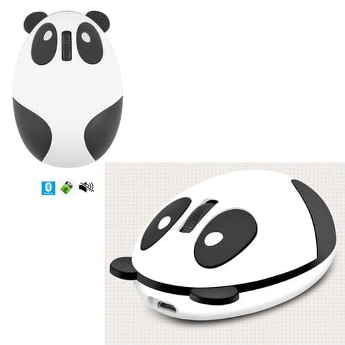 Souris Optique 1200Dpi Sans Fil Silencieuse Bluetooth Rechargeable Panda Mignon