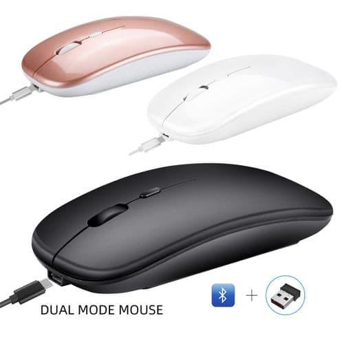 Souris Ordinateur Sans Fil Bluetooth 5.0 Et 2,4Ghz Double Mode 1600 Dpi