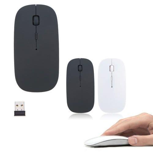 Souris Ordinateur Sans Fil Optique Ultra-Mince 2.4Ghz Nano Usb 1600 Dpi