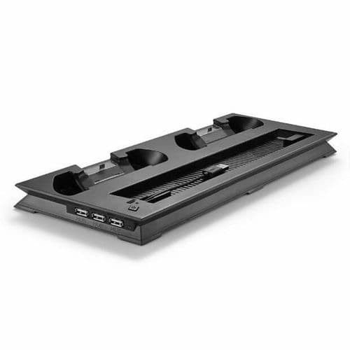 Station Dock Recharge Ventilateur USB HUB Playstation PS4 Slim Console BK