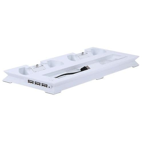 Station Dock Recharge Ventilateur USB HUB Playstation PS4 Slim Console WH
