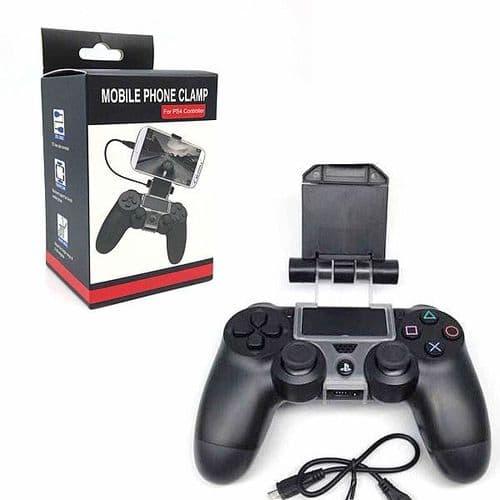 Support Clip Smartphone Smartphone Mobile pour Manette Console de Jeux PS4
