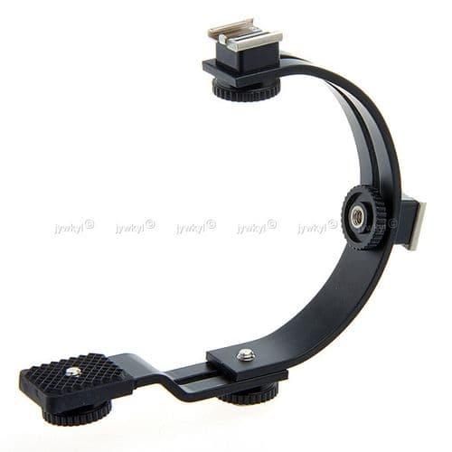 Support Poignée Bras Caméscope Appareil Photo pour Sabot Flash Mic Lampe Vidéo C 940