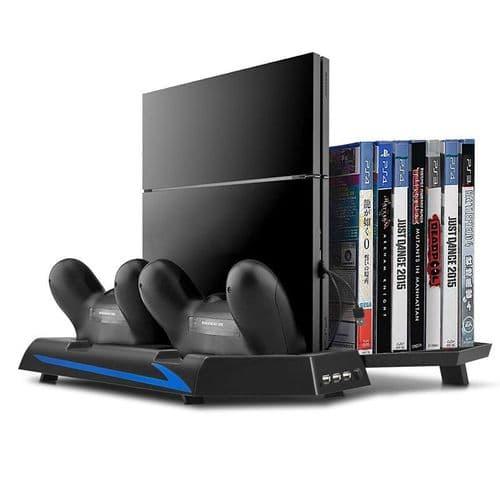 Support Ventilateur Sony PS4 Console USB HUB Manette Dock Chargeur Range Jeux