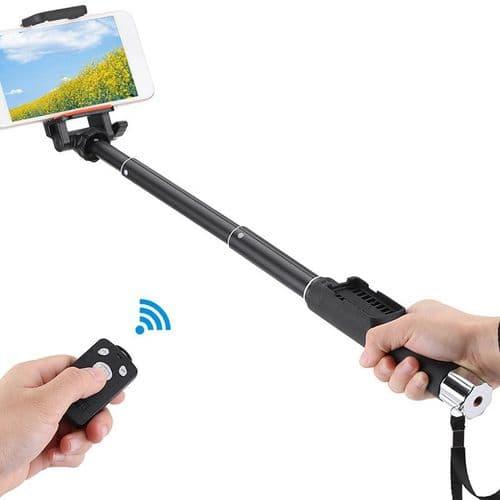 Télescopique Perche Selfie Stick Bâton pour Smartphone Support Télécommande