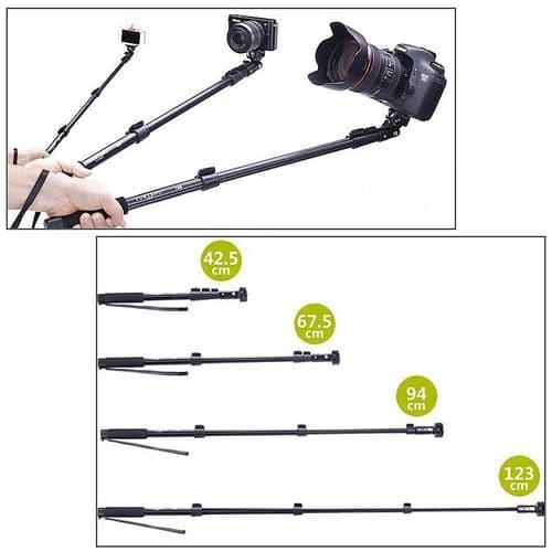 Télescopique Perche Selfie Stick pour Appareil Photo Caméra Smartphone Support