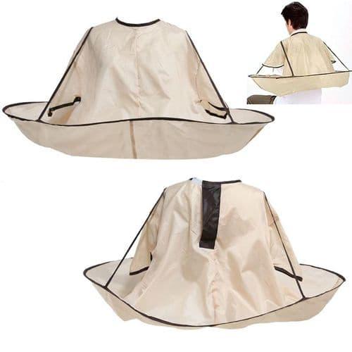 Tablier De Coiffure Imperméable Robe Coupe Cheveux Adultes Forme Parapluie