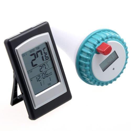 Thermomètre Piscine Horloge Digitale Capteur Extérieur Sans Fil