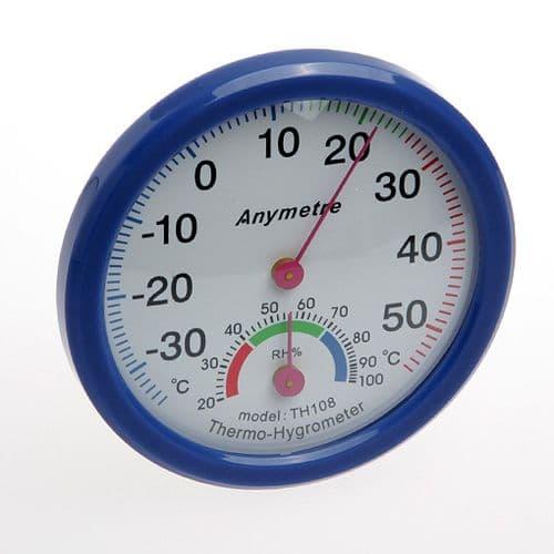 Thermomètre et Hygromètre Humidité Température Echelle de Mesure Jauge 112