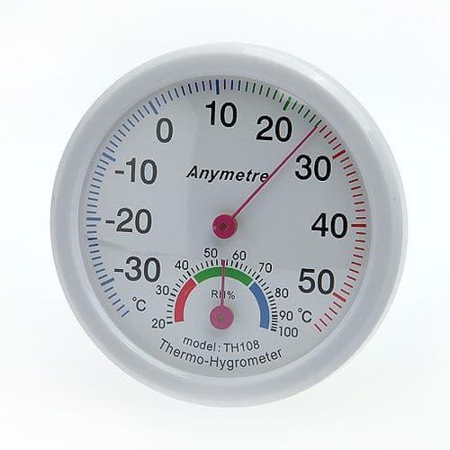 Thermomètre et Hygromètre Humidité Température Echelle de Mesure Jauge 113
