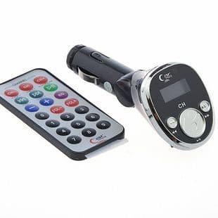 Transmetteur FM Audio MP3 Clé USB Carte Micro SD Auto Allume-cigare BK