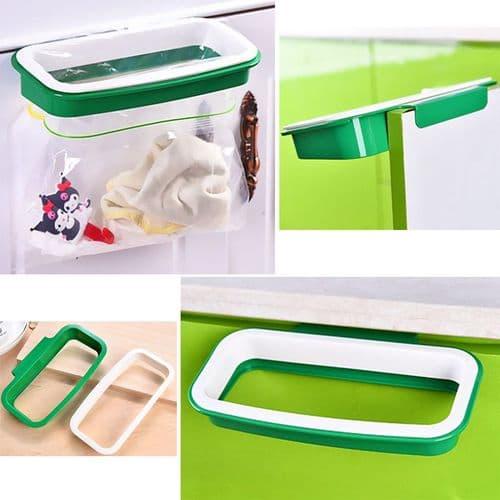 Accroche support sac poubelle sur porte de placard tiroir de cuisine