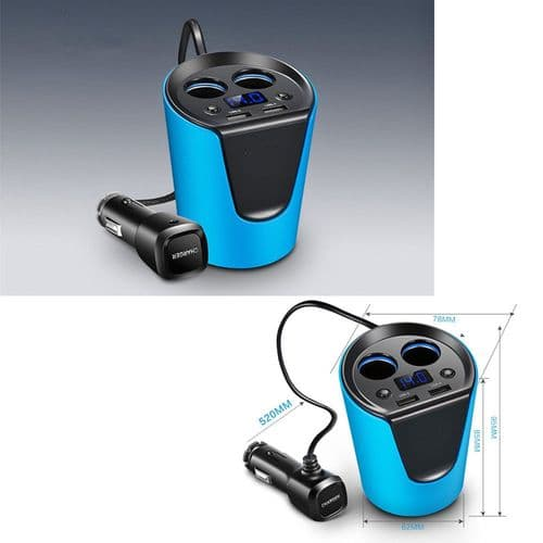 Adaptateur Alimentation Chargeur 12V / 24V Double USB 3.1A + Prise Allume-Cigare