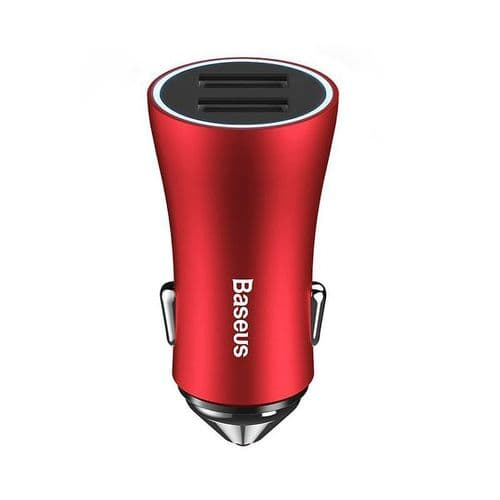 Adaptateur Allume-Cigare Double Chargeur Batterie USB LED pour Smartphone RD