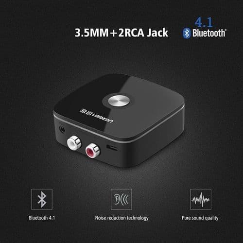Adaptateur Bluetooth sans fil 4.1 Décodeur Récepteur 3.5mm vers RCA AUX Audio