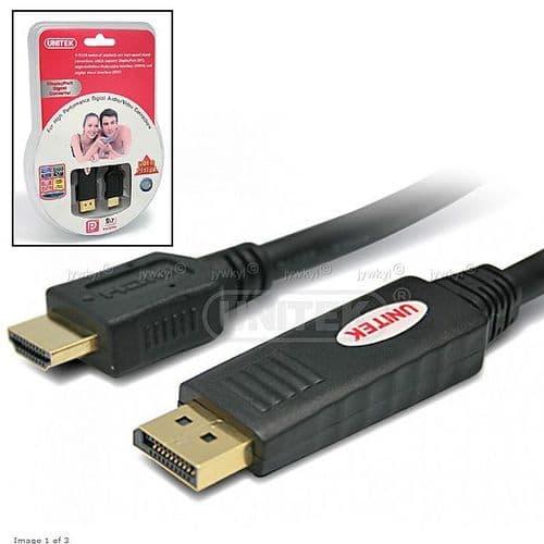 Adaptateur Câble Connecteur DisplayPort Mâle vers HDMI Mâle