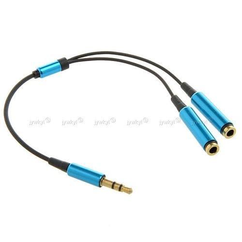 Adaptateur Câble Répartiteur Doubleur Ecouteurs Mini-jack 3,5mm 1 Mâle-2 Femelle
