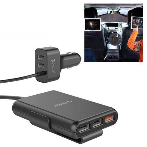 Adaptateur Chargeur De Voiture Rapide 52W 5 Ports Qc3.0 Usb Pour Téléphone