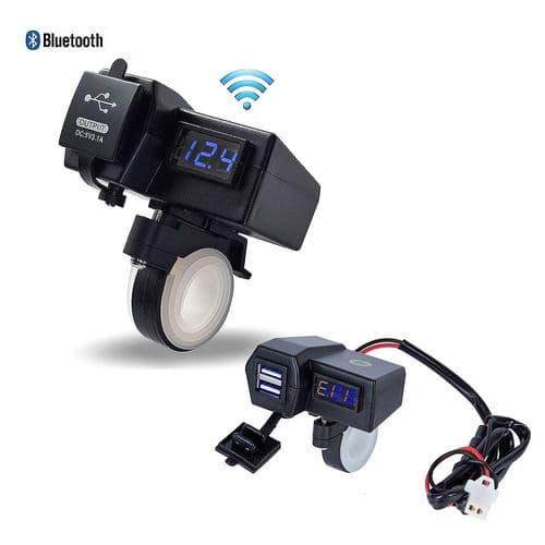 Adaptateur Double Chargeur De Moto 12V Vers Port Usb 5V Avec Bluetooth