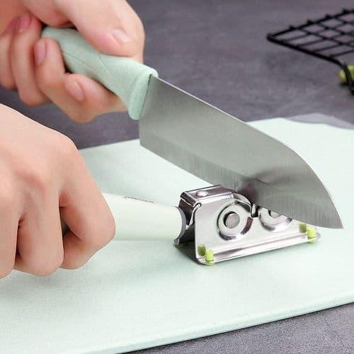 Aiguiseur À Aiguiser Couteau De Cuisine En Acier Inoxydable Rapide Aiguiseur