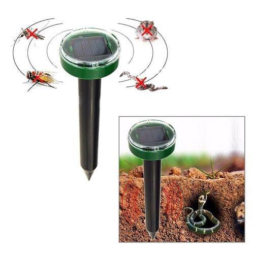 Anti-Moustique Anti-Nuisible Solaire Ultrasonic Charge Solaire Mole Reptile Rat