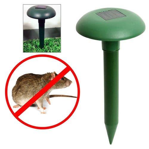 Anti-Nuisible Rat Serpent Taupe Ultrasonique Énergie Solaire Répulsif Animals