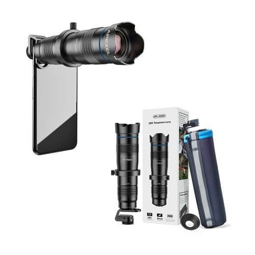 Apexel Objectif Mobile Smartphone Télé-28X Lentille De Télescope Monoculaire