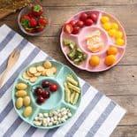 Assiette en plastique pour fruits Service Entrée Dessert Apéritif Plateau