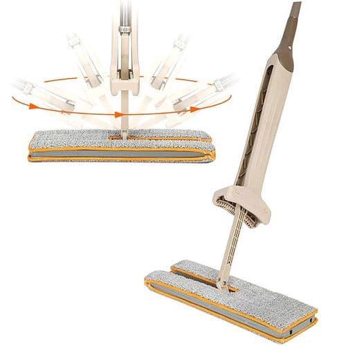 Balai serpillère rotatif nettoyage de sol lavable à main Double-face 360 degrée