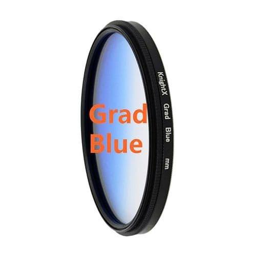Bleu Graduel Gradué Couleur Appareil  Photo Photographie Filtre Diamètre 49mm