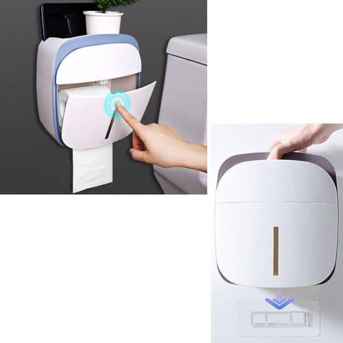 Boîte Dérouleur Papier De Toilette Avec Tiroir Et Étagère Pour Téléphone