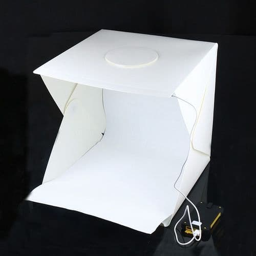 Boîte À Lumière Portative Lightbox Avec Fond Pliant Studio Photo Lampe Led 40Cm