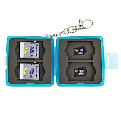 Boîtier Caisson Carte Mémoire Flash Protection Etanche 4x SD 4x Micro SD
