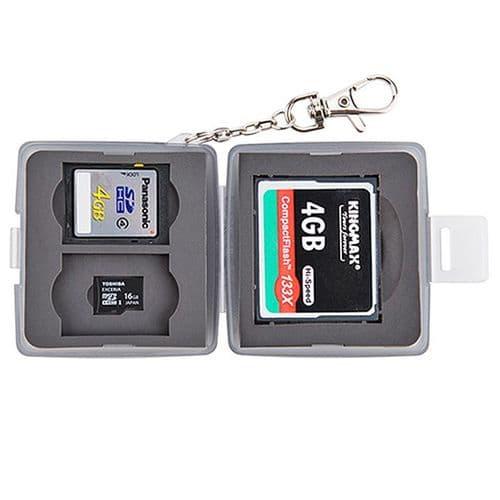Boîtier Caisson Carte Mémoire Flash Protection Etanche CF SD SD Micro Noir