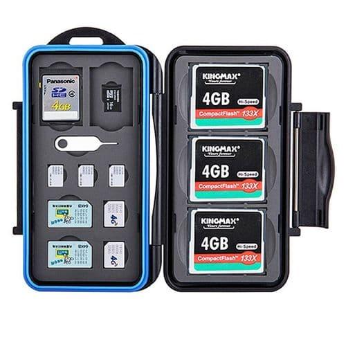 Boîtier Caisson Carte Mémoire Flash Protection Etanche SD CF Micro SD Micro Nano