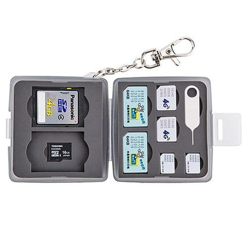 Boîtier Caisson Carte Mémoire Flash Protection Etanche SD Micro SD Micro Nano BK
