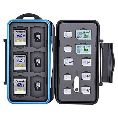 Boîtier Caisson Carte Mémoire Flash Protection Etanche SD Micro SD Nano SIM
