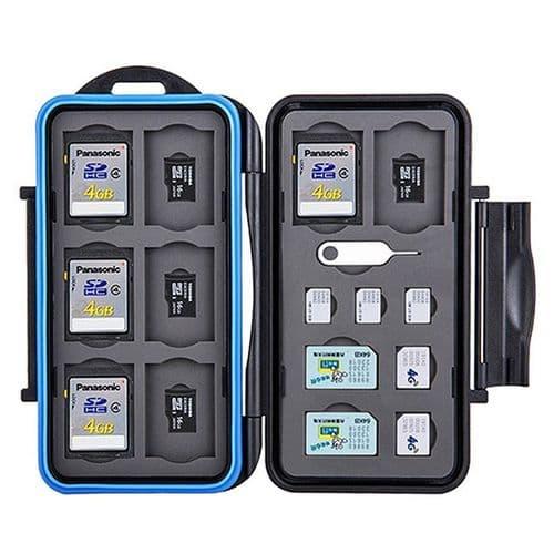 Boîtier Caisson Carte Mémoire Flash Protection Etanche SD Micro SIM Nano