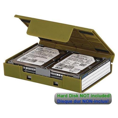 """Boîtier de Protection pour Disque Dur 2.5"""" et 3.5"""" pouces Etui Housse Coque Vert 139"""