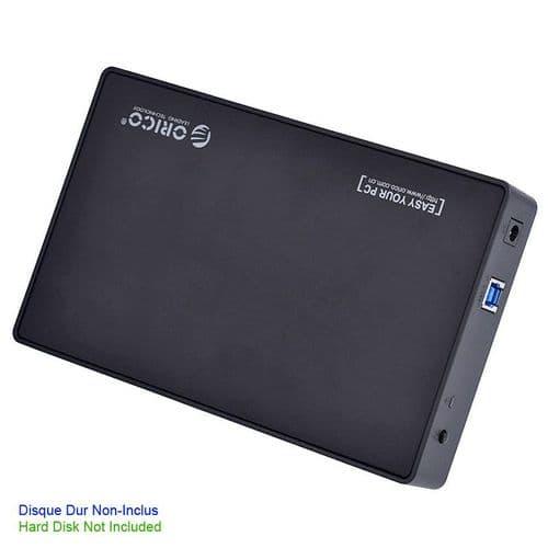 Boîtier Disque Dur Externe SATA 3.5'' USB 3.0 Coulissant 3588US3