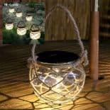 Bocale Lampe Solaire Pot En Verre Étanche Décoration Lumière Du Paysage