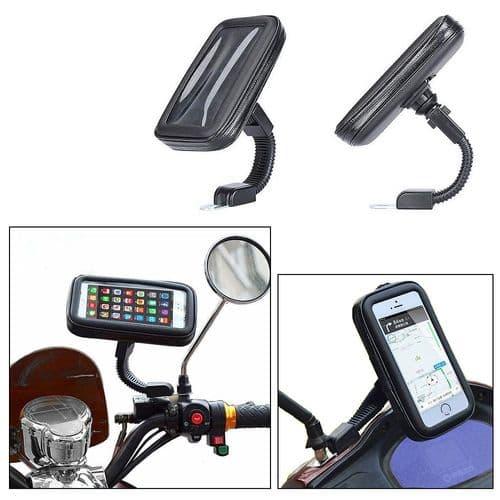 Bras Support Mobile Réglagle Pour Smartphone Sur Rétroviseur Moto Imperméable