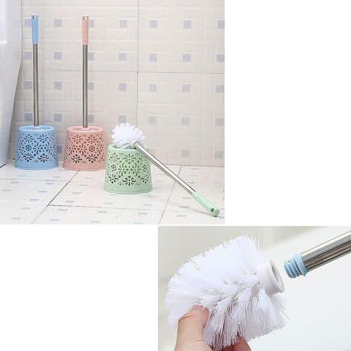 Brosse De Nettoyage Pour Toilette Avec Base Support Forme Décor Pastel Moderne