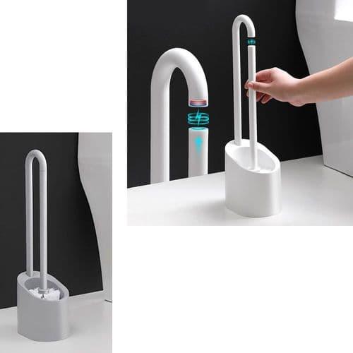 Brosse De Toilette À Long Manche Magnétique  Avec Support Nettoyage De Toilette