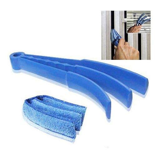 Brosse nettoyage microfibre lavable démontable pour rideaux vénitien abat-jour