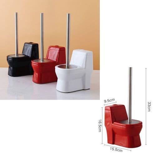 Brosse Nettoyage Pour Toilette Avec Base Support En Céramique Forme De Toilette
